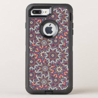 Capa Para iPhone 8 Plus/7 Plus OtterBox Defender Teste padrão floral étnico abstrato colorido da
