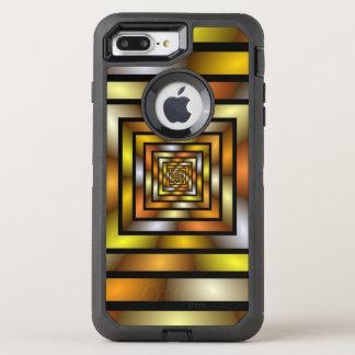 Capa Para iPhone 8 Plus/7 Plus OtterBox Defender Teste padrão gráfico colorido do Fractal do túnel