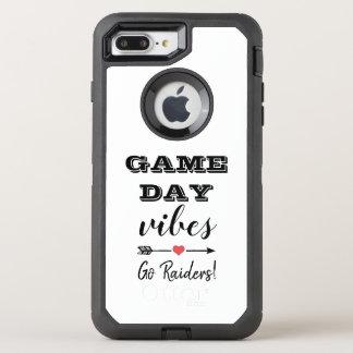 Capa Para iPhone 8 Plus/7 Plus OtterBox Defender Texto personalizado coração da equipe das