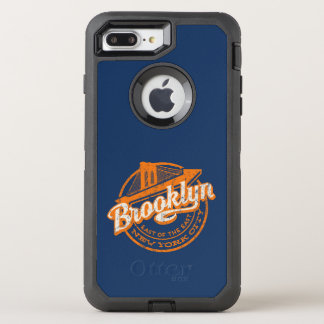 Capa Para iPhone 8 Plus/7 Plus OtterBox Defender Tipografia retro do vintage de Brooklyn, New York