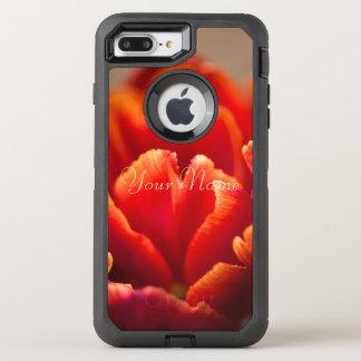 Capa Para iPhone 8 Plus/7 Plus OtterBox Defender Tulipa vermelha