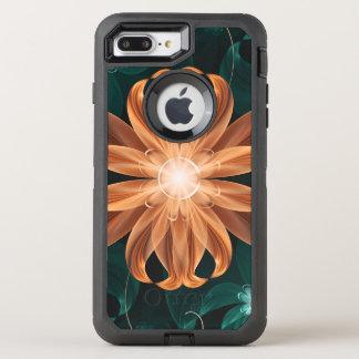 Capa Para iPhone 8 Plus/7 Plus OtterBox Defender Turquesa de fascínio e lírio de tigre alaranjado