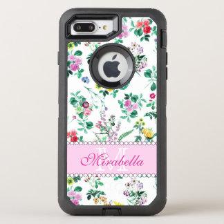 Capa Para iPhone 8 Plus/7 Plus OtterBox Defender Wildflowers & rosas amarelos vermelhos roxos