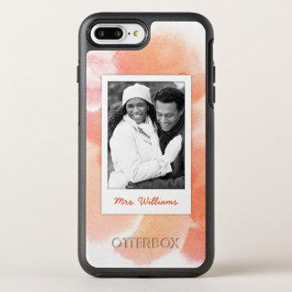 Capa Para iPhone 8 Plus/7 Plus OtterBox Symmetry A aguarela abstrata | da laranja adiciona a foto