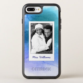 Capa Para iPhone 8 Plus/7 Plus OtterBox Symmetry A aguarela abstrata | do azul adiciona a foto