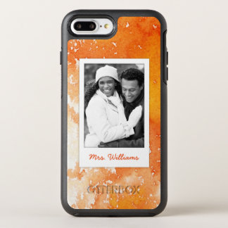 Capa Para iPhone 8 Plus/7 Plus OtterBox Symmetry A aguarela alaranjada pintada abstrato | adiciona
