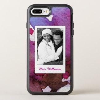 Capa Para iPhone 8 Plus/7 Plus OtterBox Symmetry A aguarela roxa | adiciona a foto