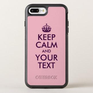 Capa Para iPhone 8 Plus/7 Plus OtterBox Symmetry A beringela mantem a calma e o seu texto