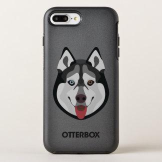 Capa Para iPhone 8 Plus/7 Plus OtterBox Symmetry A ilustração persegue o rouco Siberian da cara