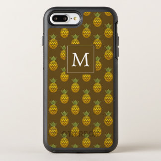 Capa Para iPhone 8 Plus/7 Plus OtterBox Symmetry Abacaxis do monograma | Brown