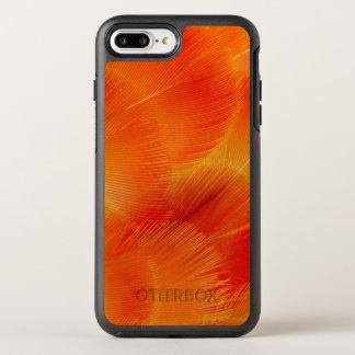 Capa Para iPhone 8 Plus/7 Plus OtterBox Symmetry Abstrato alaranjado da pena do Macaw de Camelot
