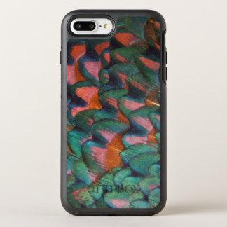 Capa Para iPhone 8 Plus/7 Plus OtterBox Symmetry Abstrato colorido das penas do faisão