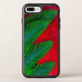 Capa Para iPhone 8 Plus/7 Plus OtterBox Symmetry Abstrato vermelho e verde da pena
