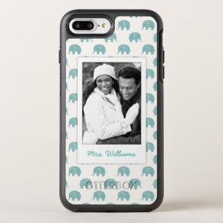 Capa Para iPhone 8 Plus/7 Plus OtterBox Symmetry Adicione seu teste padrão bonito do elefante da