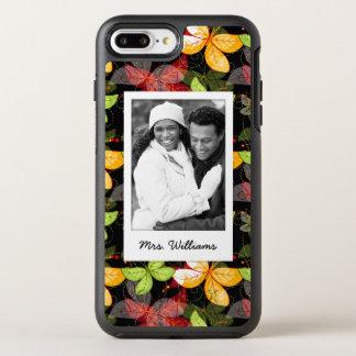 Capa Para iPhone 8 Plus/7 Plus OtterBox Symmetry Adicione seu teste padrão escuro do outono da foto