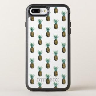 Capa Para iPhone 8 Plus/7 Plus OtterBox Symmetry Aguarela tropical do abacaxi