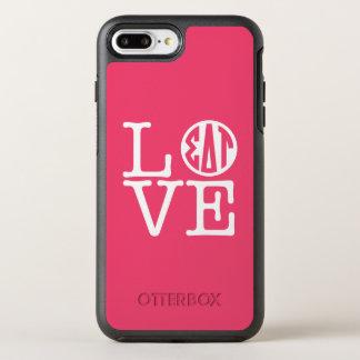 Capa Para iPhone 8 Plus/7 Plus OtterBox Symmetry Amor da tau | do delta do Sigma
