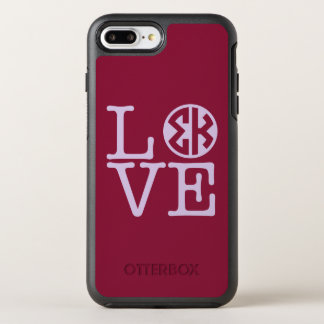 Capa Para iPhone 8 Plus/7 Plus OtterBox Symmetry Amor do Kappa do Sigma