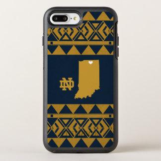 Capa Para iPhone 8 Plus/7 Plus OtterBox Symmetry Amor tribal do estado de Notre Dame |