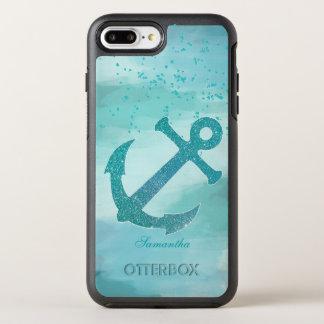 Capa Para iPhone 8 Plus/7 Plus OtterBox Symmetry Âncora do brilho do Aqua
