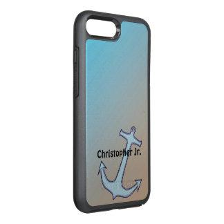 Capa Para iPhone 8 Plus/7 Plus OtterBox Symmetry Âncora no Aqua e no Tan personalizados