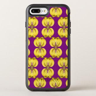 Capa Para iPhone 8 Plus/7 Plus OtterBox Symmetry Arte tropical amarela dourada da comida do damasco