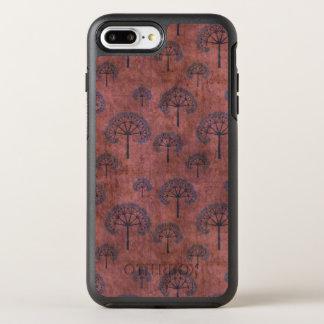 Capa Para iPhone 8 Plus/7 Plus OtterBox Symmetry Árvores laçado azuis no vermelho do Grunge