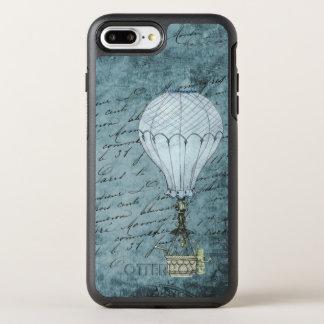 Capa Para iPhone 8 Plus/7 Plus OtterBox Symmetry Balão de ar quente azul do vintage das capas de