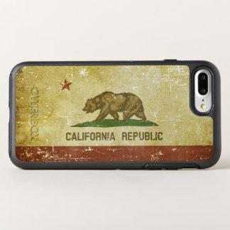 Capa Para iPhone 8 Plus/7 Plus OtterBox Symmetry Bandeira patriótica de papel gasta do estado de