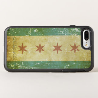 Capa Para iPhone 8 Plus/7 Plus OtterBox Symmetry Bandeira patriótica gasta de Chicago