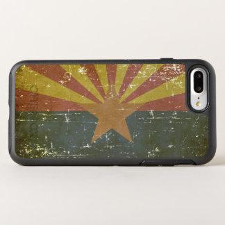Capa Para iPhone 8 Plus/7 Plus OtterBox Symmetry Bandeira patriótica gasta do estado da arizona
