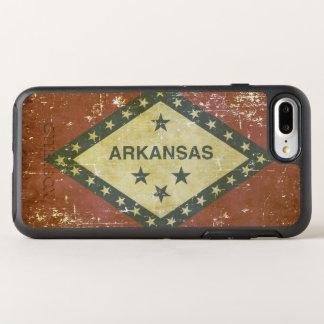 Capa Para iPhone 8 Plus/7 Plus OtterBox Symmetry Bandeira patriótica gasta do estado de Arkansas
