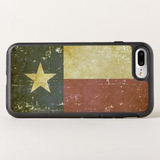 Capa Para iPhone 8 Plus/7 Plus OtterBox Symmetry Bandeira patriótica gasta do estado de Texas