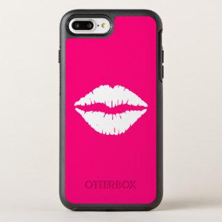 Capa Para iPhone 8 Plus/7 Plus OtterBox Symmetry Batom do rosa quente e do branco