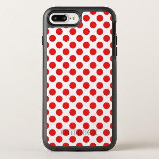 Capa Para iPhone 8 Plus/7 Plus OtterBox Symmetry Bolinhas vermelhas