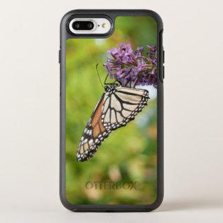 Capa Para iPhone 8 Plus/7 Plus OtterBox Symmetry Borboleta de monarca na borboleta Bush roxa