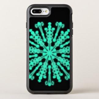 Capa Para iPhone 8 Plus/7 Plus OtterBox Symmetry ~ brilhante do preto e da cerceta das noites