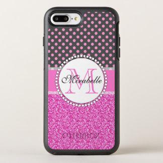 Capa Para iPhone 8 Plus/7 Plus OtterBox Symmetry Brilho cor-de-rosa e bolinhas cor-de-rosa nas