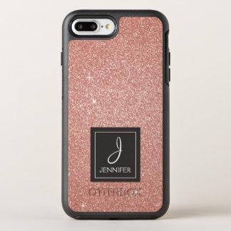 Capa Para iPhone 8 Plus/7 Plus OtterBox Symmetry Brilho do ouro do rosa do rosa e monograma da