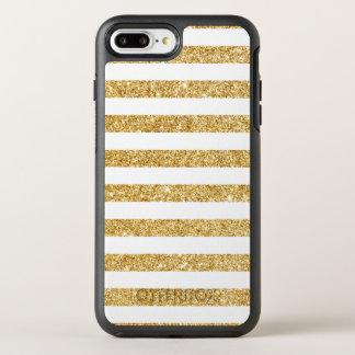 Capa Para iPhone 8 Plus/7 Plus OtterBox Symmetry Brilho elegante do ouro do falso e teste padrão