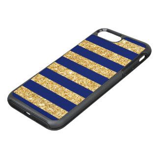 Capa Para iPhone 8 Plus/7 Plus OtterBox Symmetry Brilho elegante do ouro do falso e teste padrão da