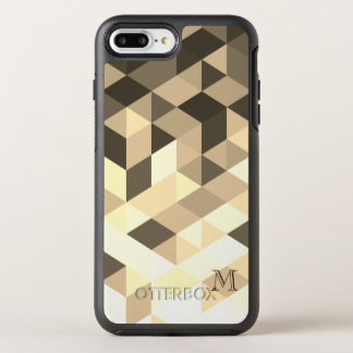 Capa Para iPhone 8 Plus/7 Plus OtterBox Symmetry Brown escuro e formas geométricas do Sepia