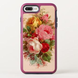 Capa Para iPhone 8 Plus/7 Plus OtterBox Symmetry Buquê cor-de-rosa do vintage floral
