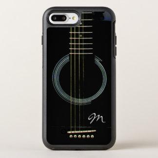 Capa Para iPhone 8 Plus/7 Plus OtterBox Symmetry Caixa preta de Otterbox da guitarra acústica do