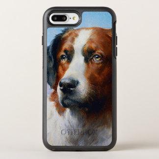 Capa Para iPhone 8 Plus/7 Plus OtterBox Symmetry Cão de St Bernard do vintage