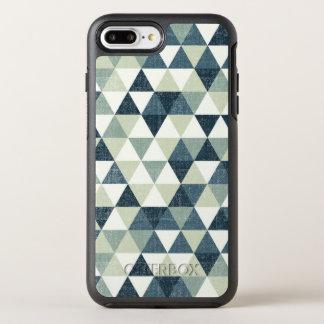 Capa Para iPhone 8 Plus/7 Plus OtterBox Symmetry Capa de telefone azul elegante do teste padrão  