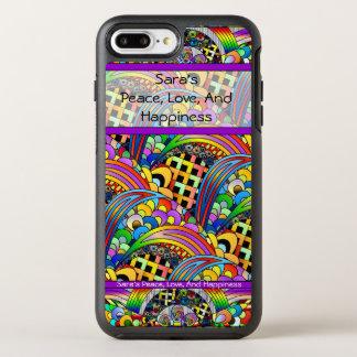 Capa Para iPhone 8 Plus/7 Plus OtterBox Symmetry Capa de telefone da paz, do amor e da felicidade