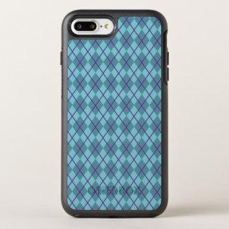 Capa Para iPhone 8 Plus/7 Plus OtterBox Symmetry Capa de telefone de Argyle | do azul de turquesa