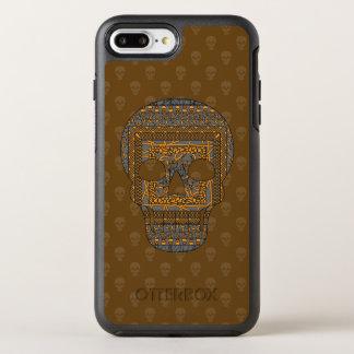 Capa Para iPhone 8 Plus/7 Plus OtterBox Symmetry Capa de telefone de Otterbox do crânio do Dia das