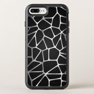 Capa Para iPhone 8 Plus/7 Plus OtterBox Symmetry Capa de telefone de prata do abstrato | da Web do